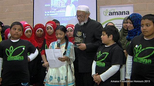 Abdul Mannan receives the first Amana Honours