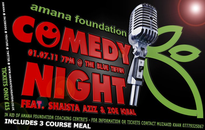 comedy night at blue tiffin poster