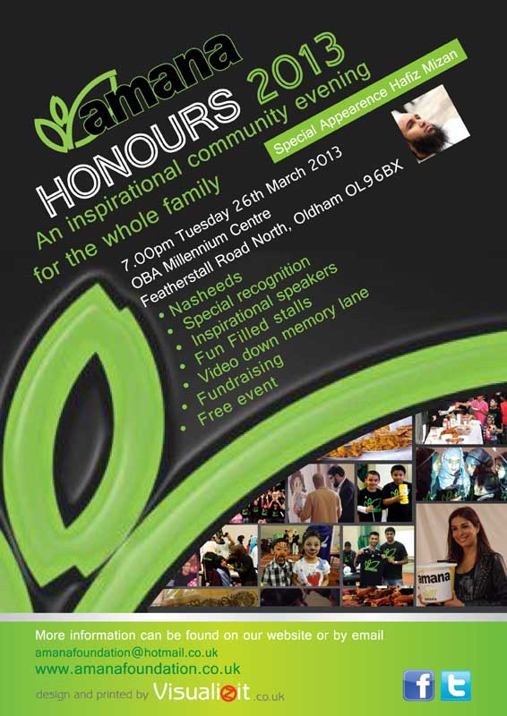 first amana honours poster