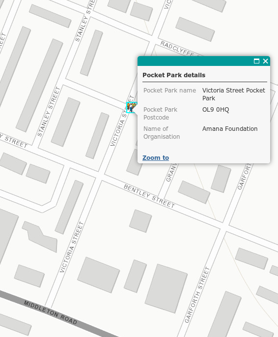 Pocket Park Location OL9 0HQ