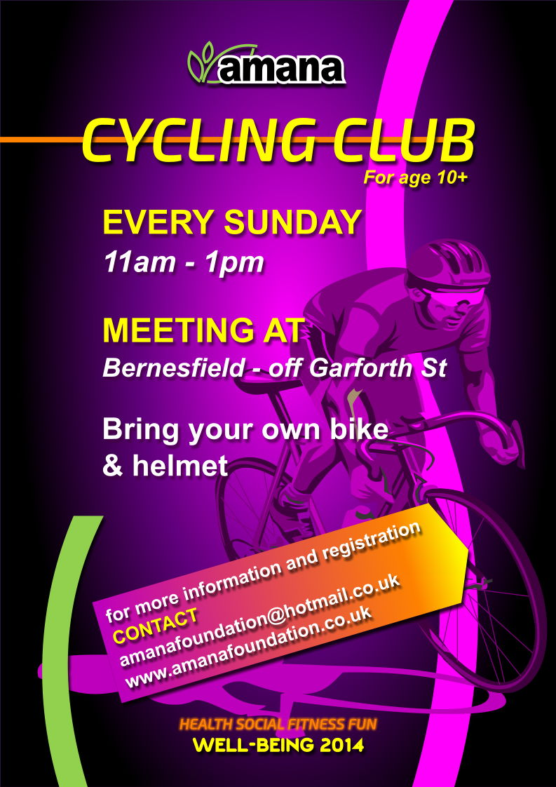 Poster for Amana Saturday Cycling Club